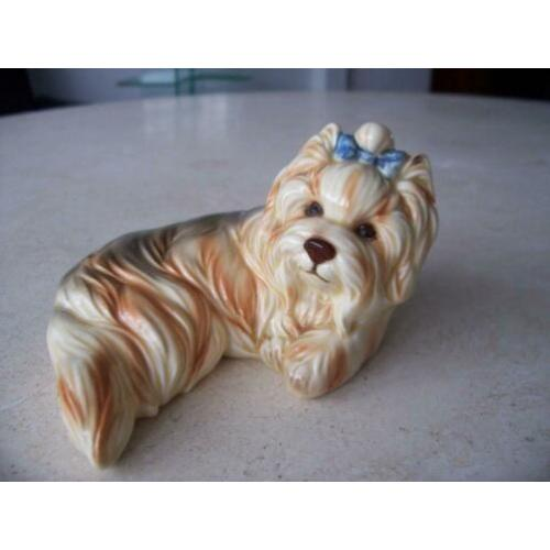Vintage Yorkshire Terrier, Vaga International porselein