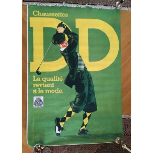 Grote affiche DD chaussettes