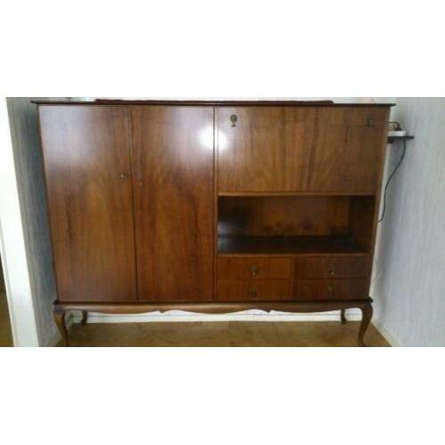 Notenhouten Queen Ann dressoir / servieskast / buffetkast